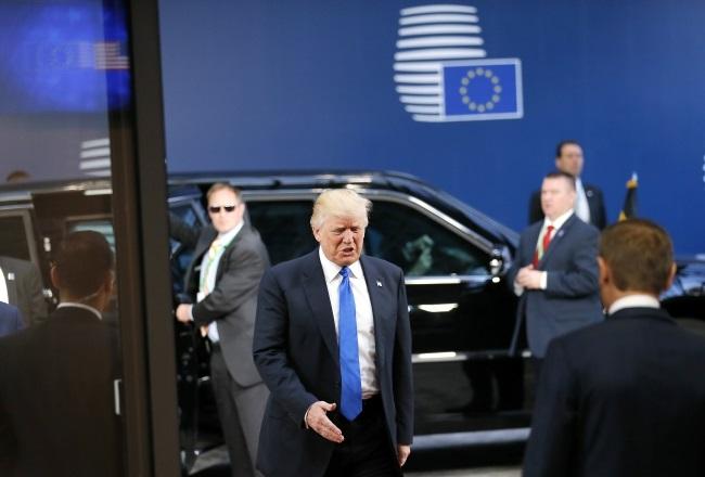 Amerykański prezydent Donald Trump przybył do Brukseli
