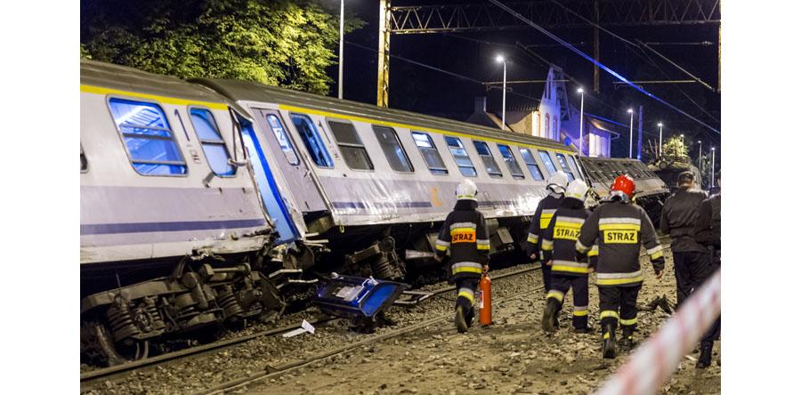 Pomorskie/PKP: wykoleił się pociąg relacji Gdynia – Bielsko Biała/Zakopane