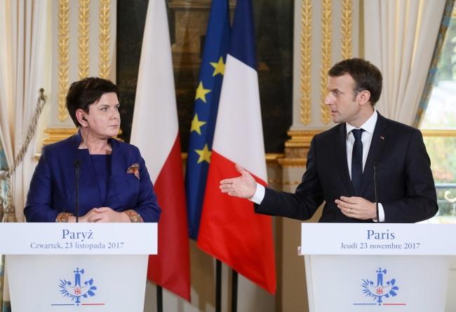 Premier Szydło spotkała się z prezydenten Francji E. Macronem